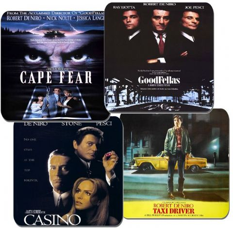 Robert De Niro Movie Poster Coasters. High Quality Cork. Casino, Goodfellas